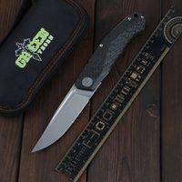 Green Thorn складной нож Pero D2 подшипник + углеродное волокно 3D ручка кемпинга Открытый фруктовый складной нож EDC инструмент