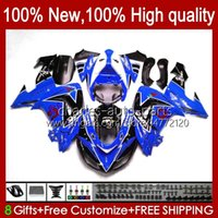 Karosserie für Kawasaki Ninja ZX1000cc ZX 10R 10 R 1000 CC 2006 2007 Körper 14No.95 1000cc ZX1000C 2006-2007 ZX-10R ZX1000 ZX10R 06 07 Motorradverkleidungsset glänzend blau