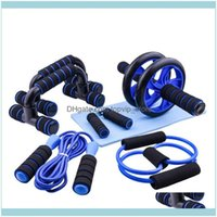 Aessories Equipments Supplies Sports & Outdoors7Pcs Ab Trainer Power Wheel Roller Push Up Bar Jump Rope Hand Grip Abdominal Muscle Exerciser
