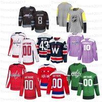 Custom Washington Capitals Hockey Jerseys 8 Alex Ovechkin 19 Nicklas Backstrom 77 TJ Oshie 43 Tom Wilson