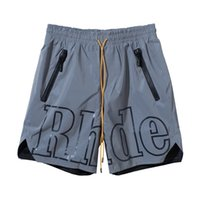 20ss الأزياء الصيف usa newyork rhude × راعي 3 متر عاكس نايلون سلسلة السراويل النساء الرجال عالية الشارع الأوسط السراويل الركض السراويل