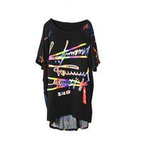 Xitao stampa modello t shirt moda nuove donne pullover irregolare piccolo fresco 2021 estate patchwork elegante tee xj4809