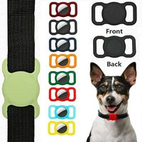 Pet Silicone Protective Case for Apple Airtag Dog Cat Collar Holder Compatible with Locator Tracker Anti-lost Device