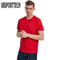 T-shirt pour hommes de la marque Été 100% coton couleur pure colle rond tshirt à manches courtes hommes 5xl mode tee shirt