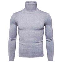 Favocent зима теплый водолазка свитер мужчина мода твердые трикотажные мужские свитера случайные мужчина двойной воротник тонкий пуловер