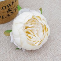 Testa di peonia artificiale 9 cm di alta qualità Seta Camelia Rose Flower Teste di simulazione Fiori Decor ZZE5266