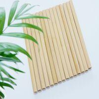 Tassen Einweg-Bambus-Strohhalm für Getränke in flach geneigten Mundlack und Nichtwachs Milch Tee Coffee Shop 2114 V2