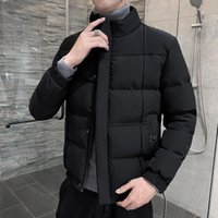 Men's Down & Parkas Fall And Winter Cotton-padded Jacket Casual Padded Bread Stand Collar