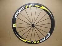 FFwD Road Yellow 60mm Wheels tubular carbon road bike bicycle wheels 23mm Wider Carbon Fiber Wheels