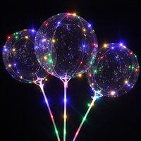 Светодиодный воздушный шар с палочками светящиеся прозрачный гелий прозрачный бобоаллоны свадьбы свадьба украшения вечеринки дети светодиодный свет воздушный шар 1943 v2