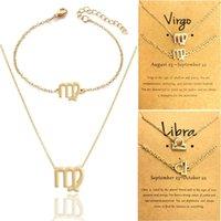 Collar zodiaco pulsera conjunto collar zodiaco