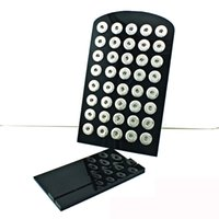 Soporte de exhibición de joyas de botones de chunks para 40pcs 18mm y 60pcs 12mm Ginger Snap DFF5028