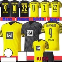 축구 유니폼 BVB Borussia Dortmund 축구 셔츠 HAALAND 9 Maillot 드 발 11 Reus Mens Hazard Kids Kits Brandt M.Gotze Uniforms Bellingham Hummels Witsel Piszczek