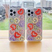 Cajas de la lentejuelas de las lentejuelas del corazón lindo 3D TPU Caja de caramelo de la caja de la jalea para el iPhone 12 11 Pro Max 8 7 Plus