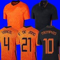 2021 Футбол Джерси Футбольные Наборы Футболка Рубашка Virgil 20 21 Джетки Strootman Memphis Мужчины + Детские наборы