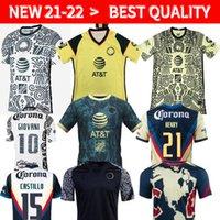 قمم Liga MX 21 22 Club America Soccer Jerseys Leon Third 2021 2022 Camisetas Tijuana Tigres Unam Chivas 115th 115 سنة Kit Cruz Azul 3rd Kids Kit