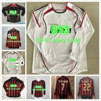 Kaka 90 91 AC Retro Ev Gömlek 96 97 Gullit Futbol Forması 02 03 04 Maldini Van Basten Futbol Ronaldo Inzaghi 06 07 Milan 09 10 Shevchenko
