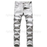 Men's Jeans Winter Fashion Mens Cotton Gray Simple Casual Slim Skinny Denim Pants Micro-elastic Trousers