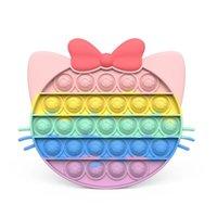Dhl colorato carino simpatico giocattoli giocattoli arcobaleno gatto anti-stress antistres adulto bolla reliever bambini regalo kawaii giocattolo figet