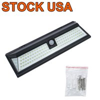 Outdoor Solar lamps PIR Street Wall Light 118 LED with Motion Sensor Wide Angle Waterproof Outdoors Security Lights for Garage Patio Garden Driveway Yard-Auto,White
