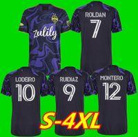 MLS 2021 Seattle Sounders Футбол трикотажные изделия Пурпур 21 22 Джими Хендрикс Kit Roldan Rolidíaz Lodeiro Montero Morris CamiSetas de Fútbol Футбольные рубашки Майолтов