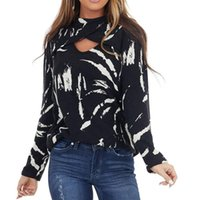 Women's T-Shirt Feitong Hollow Out Long Sleeved T-shirts Women O-neck Black Shirt Loose Chest T Ins Floral Top Coat Pulovers