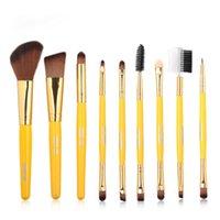 Makeup Brushes 9pcs Brush Sets Set Eye Portable Wooden Handle Nylon Cosmetic Powder Foundation Shadow Beauty Tool