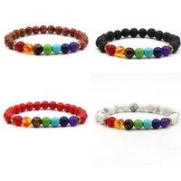 8mm Natural Stone Handmade Strands Beaded Bracelets For Men Women Yoga Sports Elastic Charm Party Club Energy Jewelry