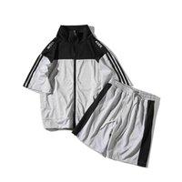TrackSuits 2021 Suit Loisirs Suit Fashion Men's Mode Loose Cardigan Court à manches courtes grandes taille à la mode et beau