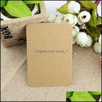 Price Tags, & Jewelry100 Pcs Lot 6.8*9.7Cm Kraft Paper Necklace Earrings Sets Display Cards Jewelry Packaging Card Gifts Drop Delivery 2021