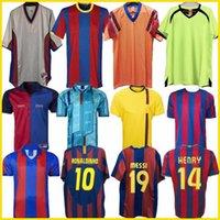 레트로 축구 유니폼 바르셀로나 96 97 07 08 09 10 11 Xavi Ronaldinho Ronaldo Rivaldo Guardiola Iniiesta Finals Messi Maillot de Foot 1899 1999