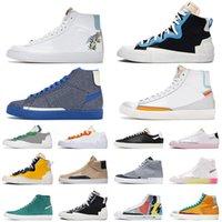 حذاء رياضي عتيق من blazer mid 77 عالي منخفض يتوهج في الظلام يتمتع بلعبة جيدة من جلد الغزال للنساء أحذية رياضية رياضية للرجال