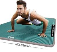 Yoga Mats 15MM Thick Mat NRB Non-slip Fitness For Men And Women Odorless Gym Exercise Pilates Meditation