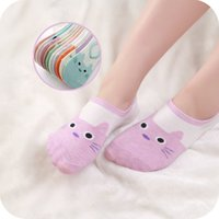New Fashion Colorful Animal Invisible Short Woman Sweat Summer Comfortable Cotton Girl Women's Boat Socks Ankle Low Female