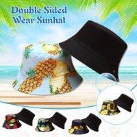 Wide Brim Hats Unisex Summer Foldable Bucket Hat Women Outdoor Sunscreen Cotton Fishing Hunting Cap Men Basin Chapeau Sun Prevent