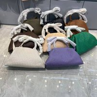 Weave Genuine Leather Crossbody Bags for Women Solid Color Shoulder Bag Female Handbags and Purses Lady Travel Bag