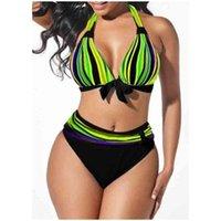 Bikini 2021 donna costumi da bagno lingerie set costume da bagno estate donna da donna da donna stampa spiaggia abbigliamento
