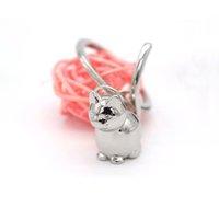 12pcs Lovely Animal Keychain Lucky Cat Collector Keyring per uomo Donne Kitten Portachiavi Portachiavi Chaveiro Llaveros Bag Charm