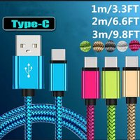 Micro USB Cables Fast Data Charging Nylon Sync Mobile Phone Charger Cable For Samsung Sony HTC LG Android Type C Braided Wire