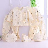 Clothing Sets Baby Summer Soft Comfortable Suit 7PCS Born Boys Girls Cartoon Pyjamas Tops+Hat+Pants +Bib Sleepwear Set