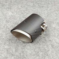 Sistema de escape de motocicleta 1 peça Silfler de fibra de carbono Dica M3 M4 M5 M Tubulação de Desempenho Bicos de Aço Inoxidável em 60 63 67 70mm Fora 89mm Tai