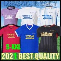 2021 2022 Rangers 150 aniversario Camisetas de fútbol de 150 aniversario Tercer Ley Glasgow Campeones de entrenamiento 55 Defoe Hagi Barker Tavernier 21 22 Camisetas de fútbol Hombre Tops Home Jersey