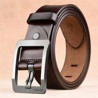 Belts Men Belt Male High Quality Leather Genuine Strap Luxury Pin Buckle Fancy Vintage Jeans