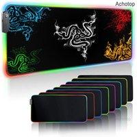 Podkładki podkładkowe Nadgarstek Razer Pad Gaming Pad RGB USB LED 14 Grupy świateł Rozszerzona oświetlona klawiatura antypoślizgowa mata koc 350 * 250 i 400