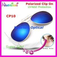 10 stücke Pilot Stil Polarisierte Gläser Brillen Sonnenbrille G15 Braun 8 Farben UV400 Objektiv Clip auf Sonnenbrille CP10 frei