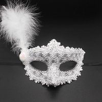 Colorful Halloween Feather Eye Mask Women Girls Princess Sexy Masquerade Masks Dance Birthday Party Carnival Props Christmas DHE8475