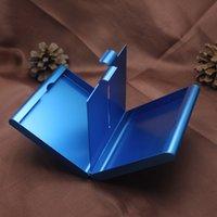 Aluminiumlegierung 20 Zigaretten Box Metall Zigarettenspeicher Tabak Fallbehälter Zigarettenhalter Rauchen Geschenk 4 Farben 443 R2