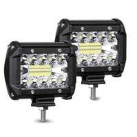 60W 4inch 20LED wasserdichte Arbeitslicht LED-Lichtstangen-Spot-Flut-Strahl für die Arbeit Fahrende Offroad-Boot-Auto-Traktor-Truck 12V 24V
