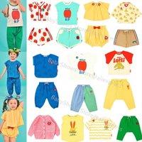 Korean Kids T Shirt Shorts Set Bebe Brand Summer Toddler Girls Boys Tee Tops Pants Cartoon Baby Vest Clothes Suit