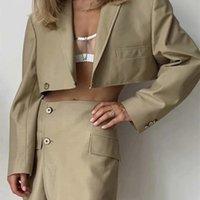 Due pezzi Set da donna Single Breasted Blazer Blazer Cappotto Vintage Manica Lunga Vita alta A-Line Linea Gonne A-Line Suits Moda 210422